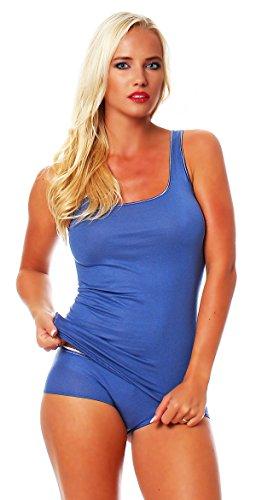 SCHÖLLER Damen Shirt ohne Arm, Achsel-Top Micromodal, Unterhemd, Farbe Denim Blue/Jeansblau, in der Größe 38