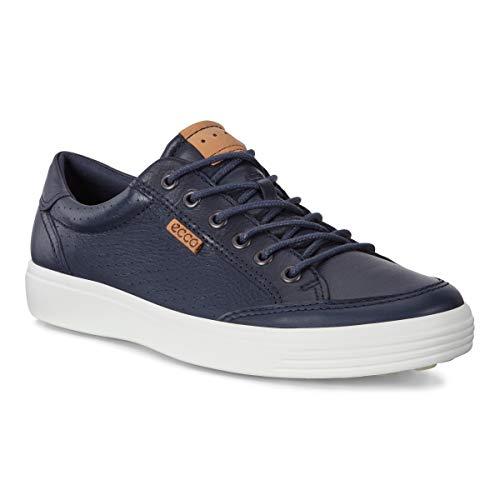 ECCO Men's Soft 7 Light Sneaker, Marine Perforated, 43 M EU (9-9.5 US)