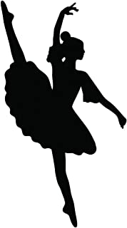16 inches x 28 inches Girls Ballet Dancing Girls Silhouette Removable Vinyl Wall Decals Stickers Decorations Home Decor fo...