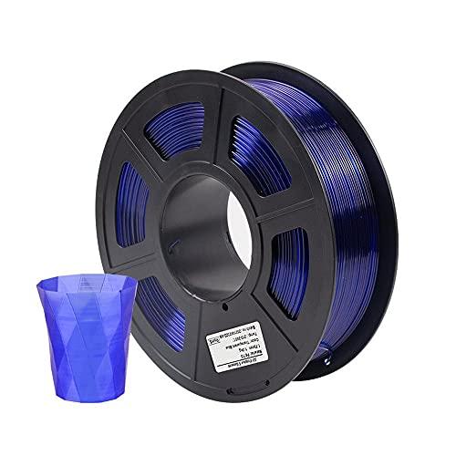 HANHAI PETG Filament 1.75mm, 3D Printer Filament - 1kg Spool, Dimensional Accuracy of +/- 0.02mm,210-240℃,Transparent Blue