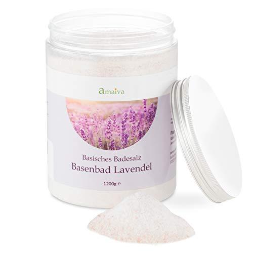 Basenbad Lavendel 1.200g (basisches Badesalz - für basische Körperpflege, Basenbäder, Fußbad und Wickel bei einem pH-Wert des Wassers über 7,5)