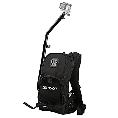 SHOOT Selfie Pro Backpack Bag for Osmo Action Camera GoPro Hero 8 Hero 7 Black Silver White/6/5/4/ Fusion for Motocycle Bicycle Skiing Cycling Biking Quick Assembly Guide Sports Case Accessories