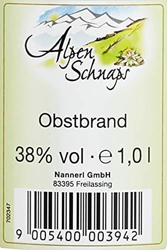Alpenschnaps |Steinbeisser | 1 x 1l | Obstler | pures Alpenglück im Glas - 2