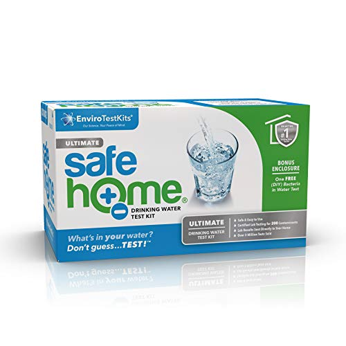 Safe Home ULTIMATE Drinking Water Test Kit – 200 Contaminants Tested at Our EPA Certified Laboratory – CITY WATER or WELL WATER – Rated BEST OVERALL KIT by 'The Spruce'
