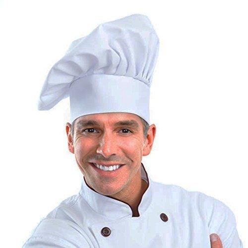 Greemosi chef cappello taglia regolabile Mushroom chef Hat per pasticceria da cucina Chef Works (bianco) da