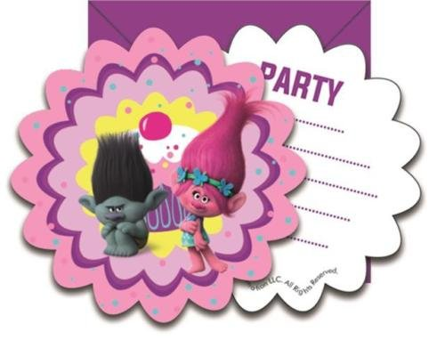 Procos Dreamworks Trolls Party Einladungen & Umschläge (6er Pack)