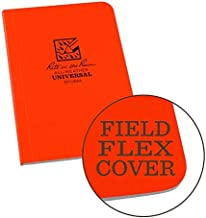 """product image for Rite in the Rain Weatherproof Soft Cover Pocket Notebook, 3 1/2"""" x 5"""", Orange Cover, Universal Pattern (No. OR54)"""