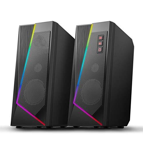 HDDFG Estéreo Surround Music Smart Speakers Sound Sound Bar para computadora 2.0...