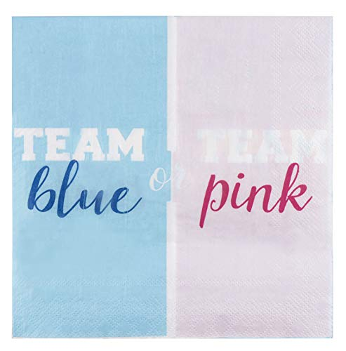 Gender Reveal Party Supplies, Luncheon Napkins (6.5 x 6.5 In, 150 Pack)
