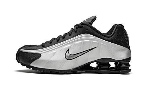 Nike Shox R4 - Zapatillas Deportivas, Color Negro y Plateado,...