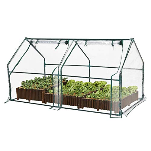 TOOCA Mini Greenhouse for Raised Garden Bed, 71' X36' X36', Portable Plant Greenhouse for Indoor Outdoor Gardens/Patios/Backyards, Suitable for Growing Seeds, Young Plants (Not Included Garden Bed)