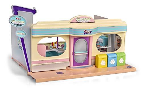 Mymy City- American Diner, restaurante de juguete con acesorios, luz y sonido (Famosa 700015820)