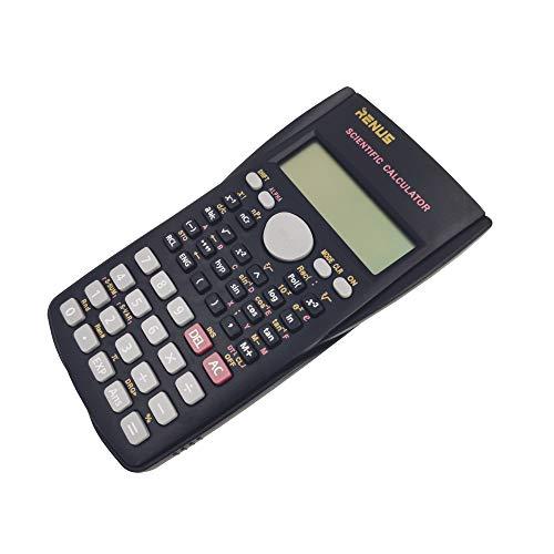 Renus - Calcolatrice scientifica a due righe per studenti e insegnanti 3 PCS