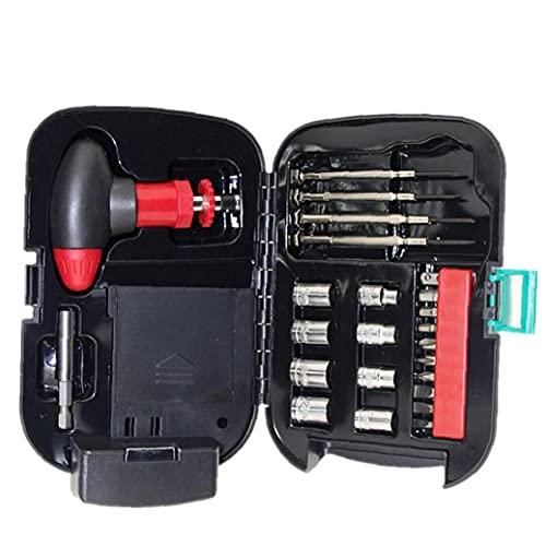 Juegos de destornilladores linterna Kit de herramientas de la caja de bit T trinquete manija de reparación de hardware de la manga de la antorcha de luz 24PCS herramientas Conjunto Industrial