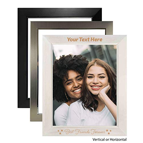 """FramesDécorShop - Friends: Best Friends Forever 8"""" x 10"""" Photo Frame. Available in 3 Finishes. Personalized, Custom Engraved Picture Frame for Your Special Photograph"""