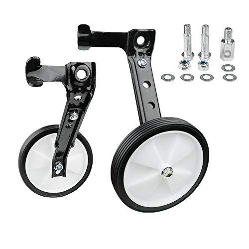 QWCZY Rotella Heavy Duty Ruota Posteriore della Bicicletta Stabilizzatori Montato Kit Compatibile per Moto di 16 18 20 22 24 Pollici, Biciclette Bambino Rotella,Nero,20 inch Bike