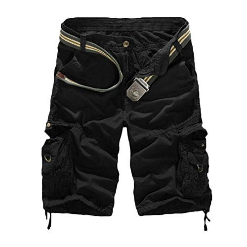 GITVIENAR Salopette Jeans Homme Oversize Grande Taille Pantalon à Demi Lâche Pantalon Décontracté Hommes Short de Sport Multi-Poches en Coton pour Vêtement Quotidien Sports de Plein Air