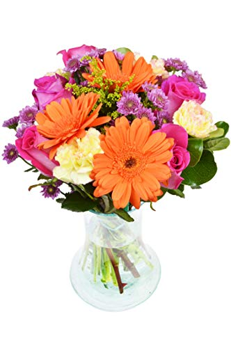Delivery by Tuesday | The Everlasting Fling Bouquet by Arabella Bouquets with a Free Designer Glass Vase