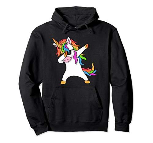 Dab Einhorn Dabbing Unicorn Sonnenbrille Regenbogen Pullover Hoodie