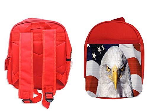MOCHILA ROJA AGUILA IMPERIAL BANDERA USA backpack rucksak