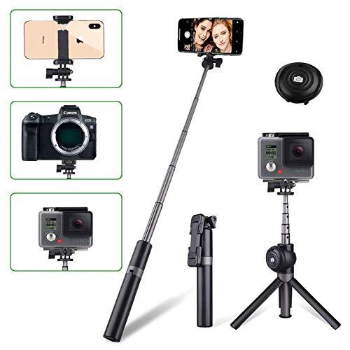 Arespark Bluetooth Selfie Stick Stativ 3 in 1 Erweiterbar Monopod Wireless Selfie-Stange Stab Selfie-Stange Mit Bluetooth-Fernauslöse