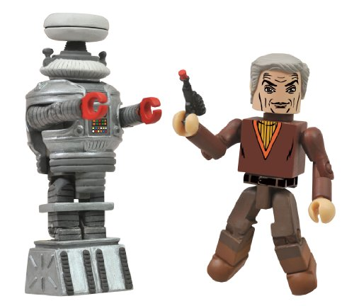 Diamond Select Toys Lost in Space Dr. Smith and B9 Robot Minimates, 2-Pack,Multi-colored,2 inches