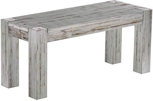 Brasil Furniture zitbank Rio Kanto grootte en kleur selecteerbaar massief houten eetkamerbank keukenbank houten bank echt hout passend bij de tafels en stoelen Maxibank Maxikruk Shabby_Chic Bank 100 cm 303 shabby eiken