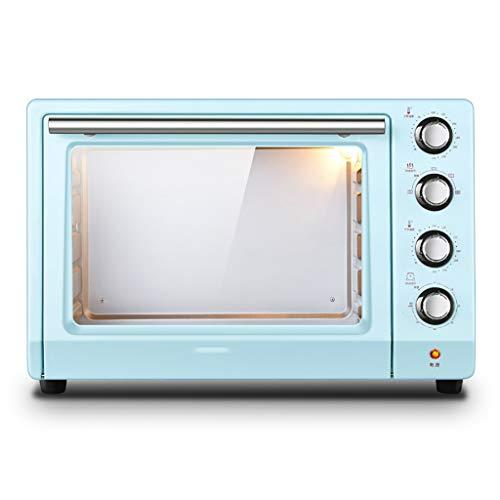 Microwave oven Comptoir Bleu rétro de Four Compact, lumières Anti-déflagrantes d'esprit de Four électrique de Puissance élevée de 1800w 1,4 Pieds Cubes, contrôle de température