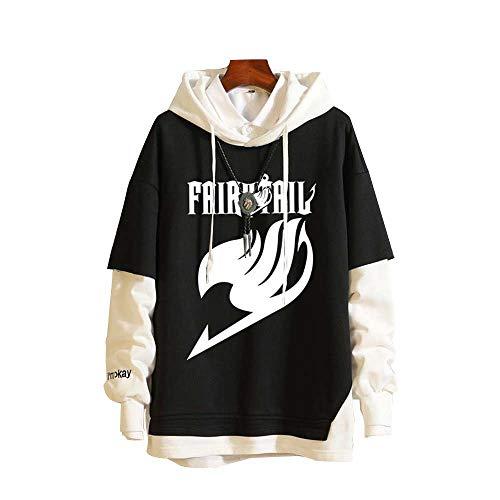 Hoodie Hommes Femmes Anime Fairy Tail Sweat À Capuche High School Costume Pull Pullover Sweat-Shirt Ado Manteau Veste M