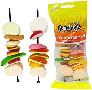 Raindrops Candy Barbecue Kabobs | Soft Assorted Candy Gummy Marshmallow (3.17oz)