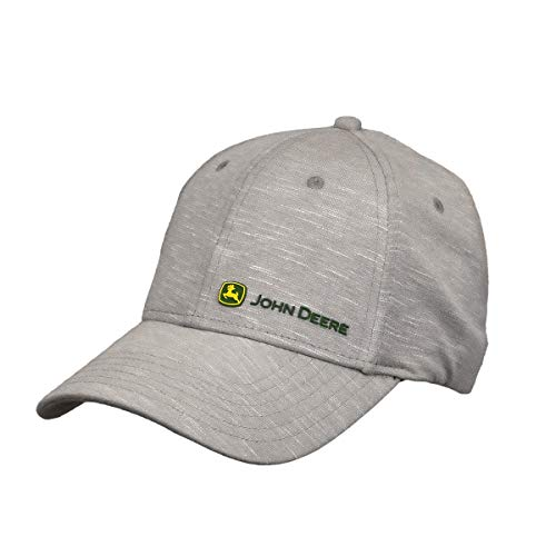 John Deere Tractors Men's Performance Off-Center Logo Baseball Cap, Oxford
