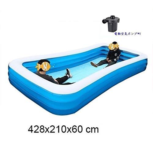 Piscina infantil familiar Los niños y adultos piscina, de gran tamaño Diseño Piscina for niños 1-8 Personas, Familia Lounge Pool Big Space interacción entre padres e hijos espesado abrasión 428x210x60