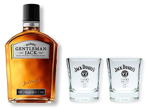 Gentleman Jack Daniels Whiskey 40% 0,7l - Set mit 2 original Tumbler Gläser