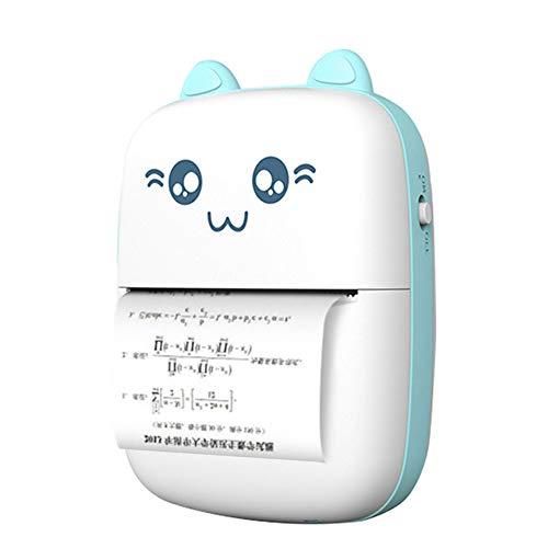 DSMGLRBGZ Impresora, Etiquetadora Impresoras HD Bluetooth Sin Tinta USB Foto Etiqueta Impresora para Plan De Trabajo Ahorrar Tiempo Mejorar La Eficiencia,B