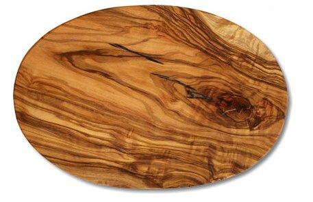 Tagliere ovale in legno di ulivo, ca. 17 x 25 x 1,2 cm