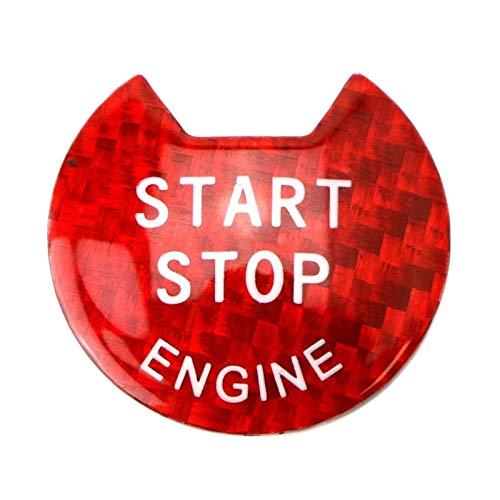 ZXZCV Cubierta para botón de arranque y parada de motor sin llave, color rojo brillante, compatible con Nissan y Infiniti (nombre del color: rojo)