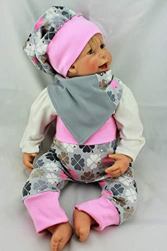 Set Pumphose und Tuch Halstuch und Beanie Mütze Gr. 62, 68, 74 Graziela Klee, Babyset, Mädchen, 95% Baumwolle, 5% Elasthan