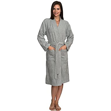 TowelSelections Women's Robe Turkish Cotton Terry Kimono Bathrobe Medium/Large High-Rise