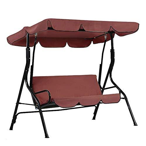 Patio Swing Canopy Cover Set - Swing Ersatzdeckel + Swing Kissenbezug für 3 Sitzschaukel Staubdichter Schutz, nur Abdeckung