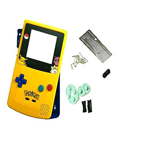 Neu Austausch Ersatzteile passend für Gameboy Color Gehäuse GBC Pokemon Version,Gelb,Blau