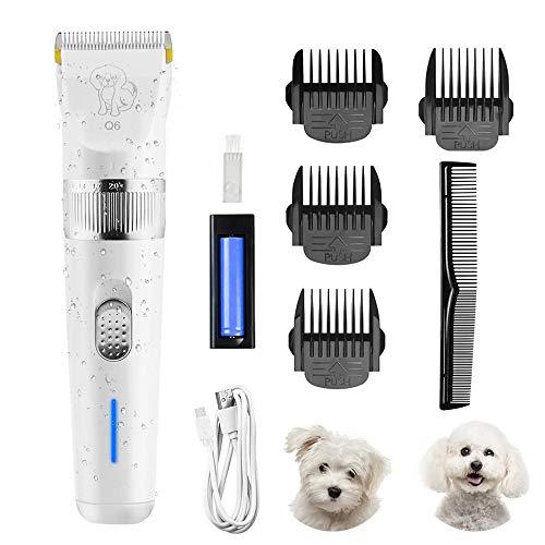 Cortapelos para Mascotas, Maquina de Cortar Pelo para Perros,Eléctrico Mascota Máquina de Aseo Profesional Herramienta USB Afeitadoras Recargables Cortador de Pelo de Gato Cortador de Pelo de Perro
