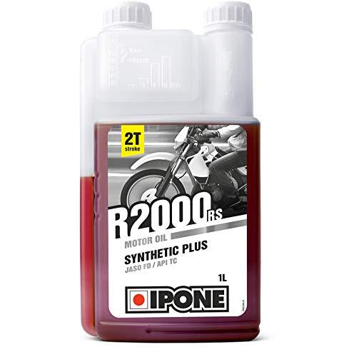 Ipone 800104 Huile Moteur Moto 2 Temps R2000 RS – Semi-Synthétique avec Esters – Haute Qualité – Bidon Doseur 1 Litre, Other, 1L