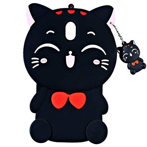 TopSZ Lucky Cat Case for Samsung Galaxy J7 Refine,J7 Aero,J7 Star,Silicone 3D Cartoon Animal Cover,Kids Girls Teens Animated Cool Fun Cute Kawaii Soft Rubber Funny Unique Character Cases for J7 2018