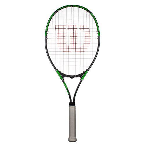 Wilson Tour Slam Erwachsene Tennisschläger – Grau/Grün (Grip 3 (4 3/8 Zoll)