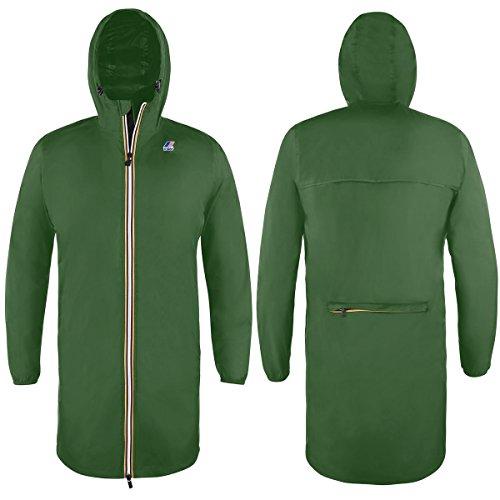 K-Way Eiffel Cappotto, Verde (Green MD X1Q), Large (Taglia Produttore:L) Uomo