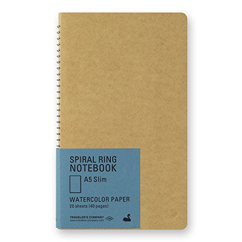 TRC Spiral Ring Notebook - A5 Slim Watercolor Paper