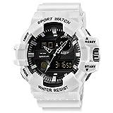 RORIOS Reloj Deportivo para Hombres Multifuncionales Militar Analógico Digital Cuarzo Reloj para Hombre