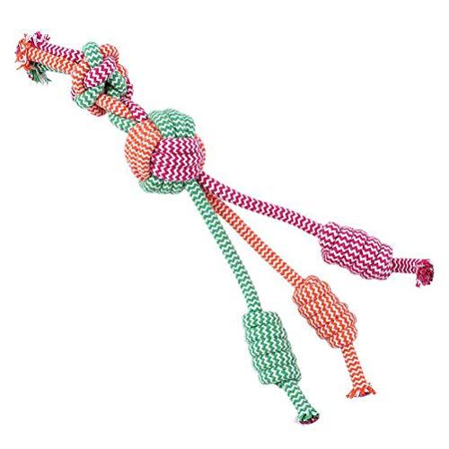 Dafang Hundespielzeug aus Kord, Hochwertig aus Baumwolle & Leinen Ökologisches Spielzeug für Kleine + große Hunde - aus Liebe zum Tier,A