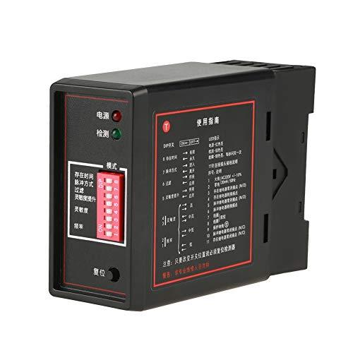 Oumefar Controles PD132 Detector de Sensor de Seguridad de Salida de Bucle de Barrera de estacionamiento de vehículos inductivos de un Solo Canal para el Acceso al estacionamiento de automóviles