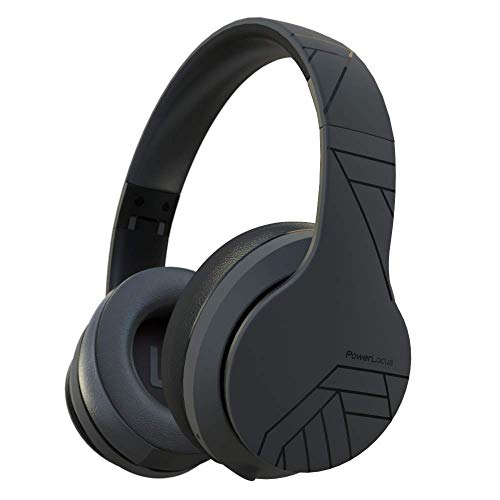 PowerLocus P6 - Auriculares Bluetooth Inalámbricos de Diadema, [20H de Duración] Super Bass Hi-Fi con Sonido Estéreo Cascos Bluetooth con Micrófono Inalámbrico y con Cable para Móviles,Tablets,PC,TV